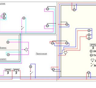 Описание типовых схем проводки в однокомнатной квартире: расшифровка и инструкция по монтажу