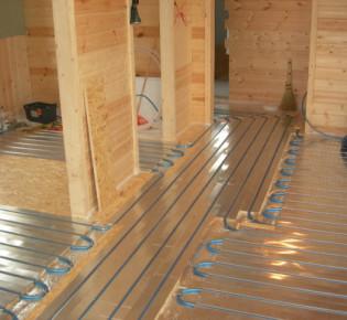 Как правильно установить систему электрического тёплого пола в домах из дерева: варианты отопления
