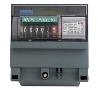 Пример установки прибора учёта электричества Меркурий 201: описание и характеристики