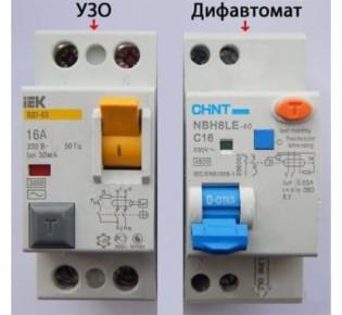 Визуальные различия и устройство дифавтомата и УЗО: описание приборов, их назначение и применение