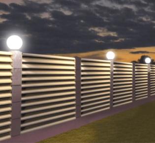 Как правильно сделать освещение забора на даче: инструкция с фото, правила и порядок электромонтажа