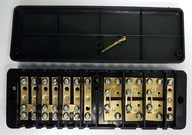 Схема подключения испытательной коробки