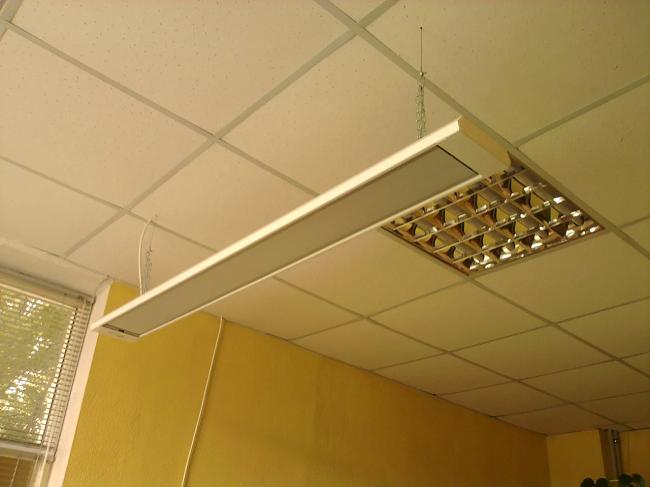подключени инфракрасного обогревателя на потолке