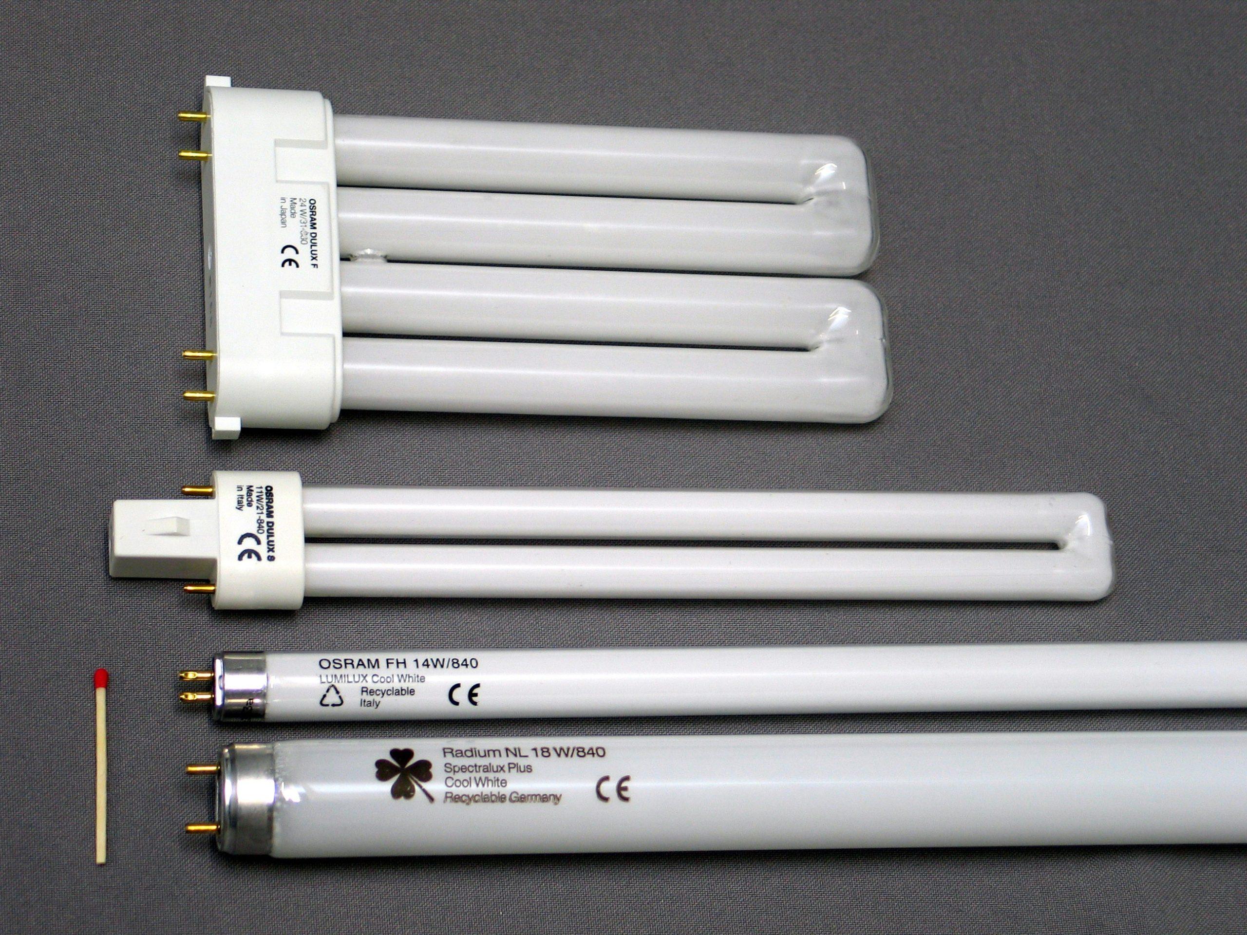 4 люминесцентных светильника