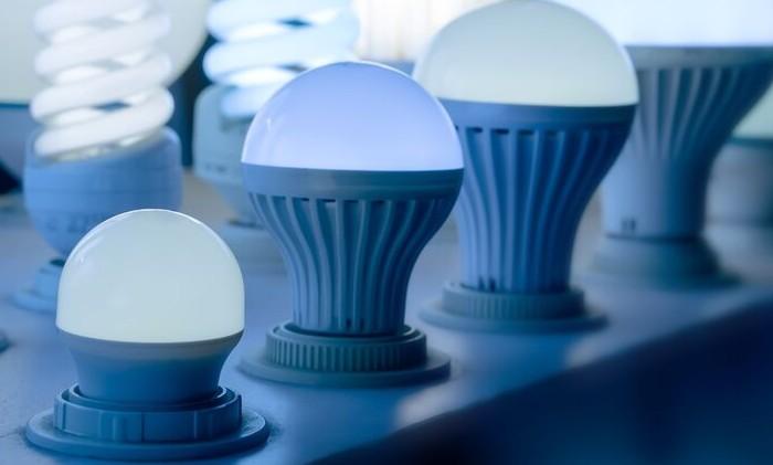 светодиодные лампы в ряд