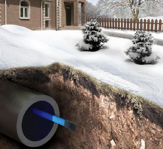 кабель в трубе под землей