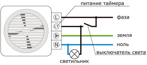 схема подключения через автоматику