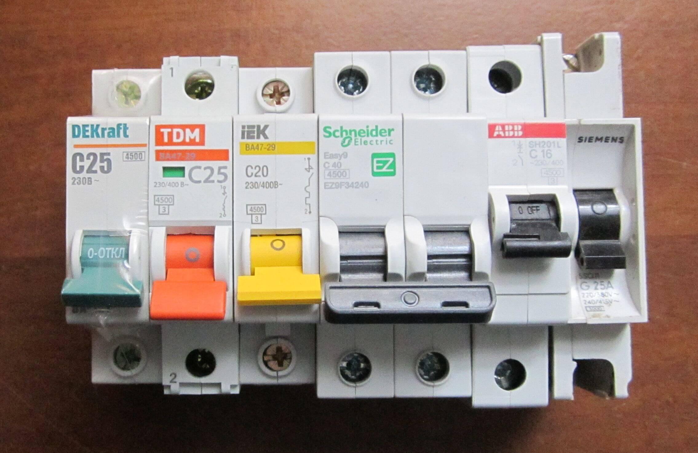 Автоматы для современной электропроводки