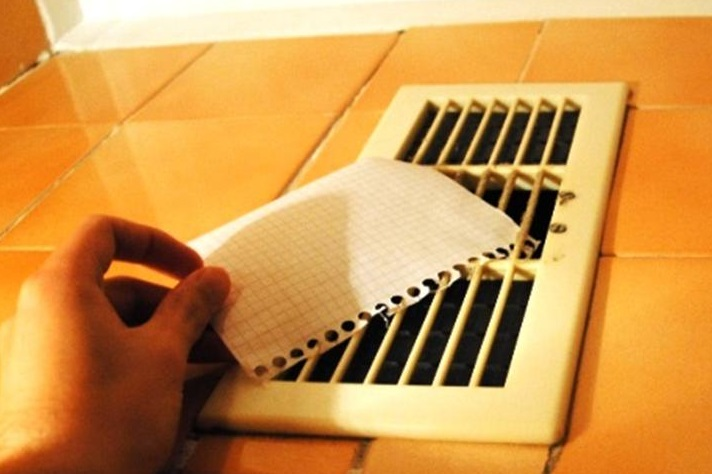 вентиляция проверка бумагой