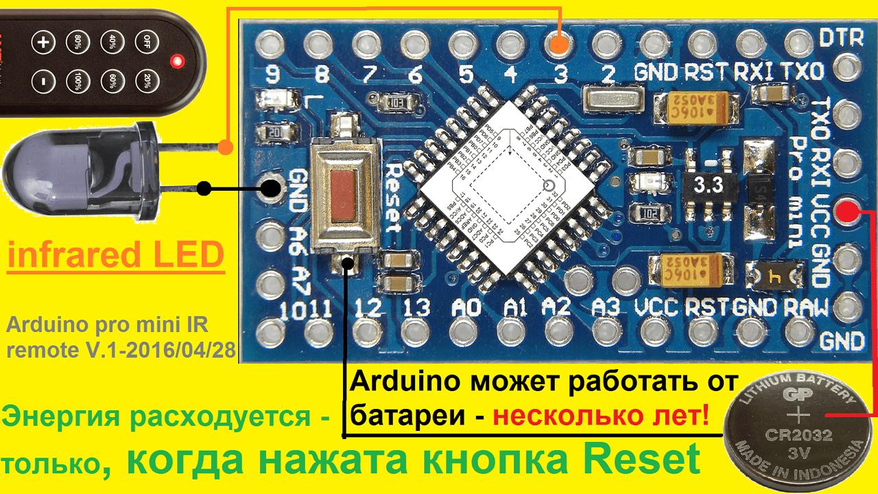микроконтроллер Arduino для управления светом