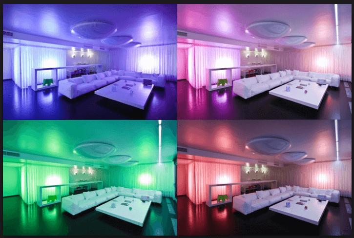 Изменение света в комнате