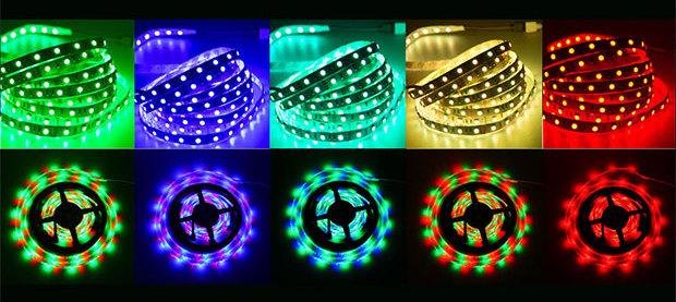 5 разноцветных параметры светодиодных