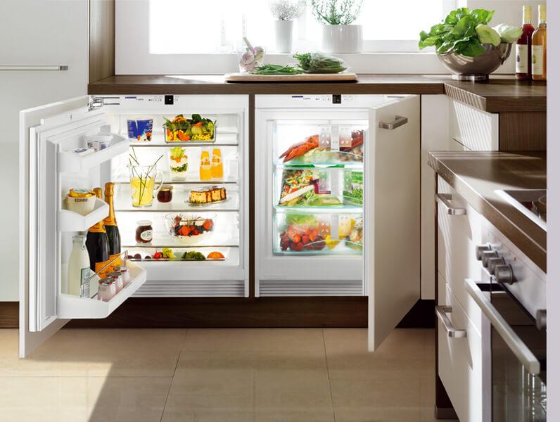 установка морозилки на кухне