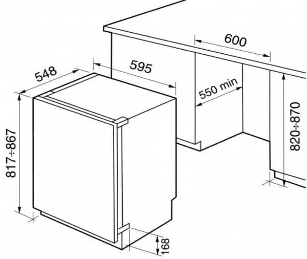 Размеры техники при установке