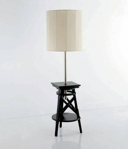 Лампа с полочкой