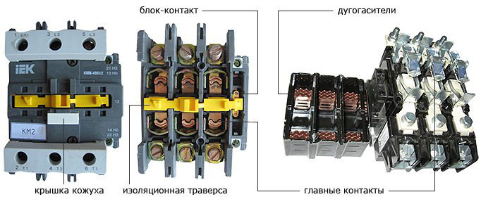 устройства для коммутации силовых цепей, разница