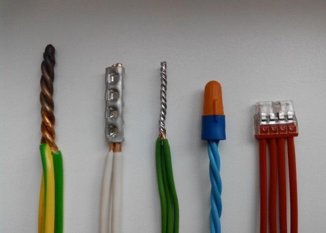 разное наращивание кабелей