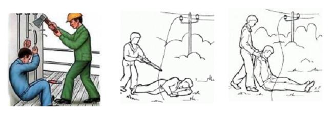3 картинки: как помочь человеку пострадавшему от шагового напряжения