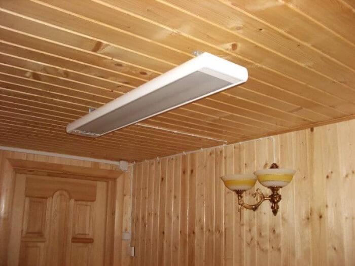 Использование электрических ИК-обогревателей для отопления деревянного дома