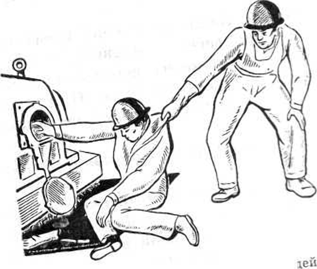человек пытается оттащить пострадавшего, правила помощи при поражении