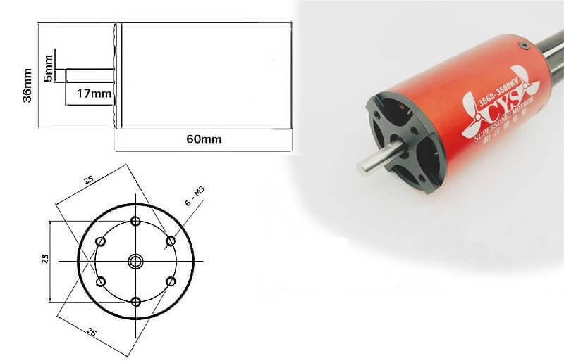 Соответствие маркировки и размеров бесколлекторных электродвигателей