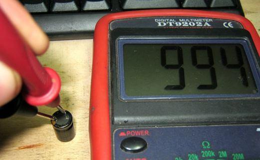 Измерение щупами емкости электроэнергии