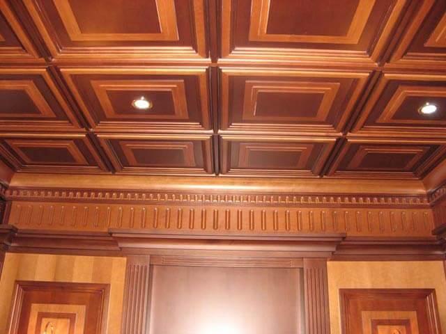Встроенные софиты, вариант оформления потолка