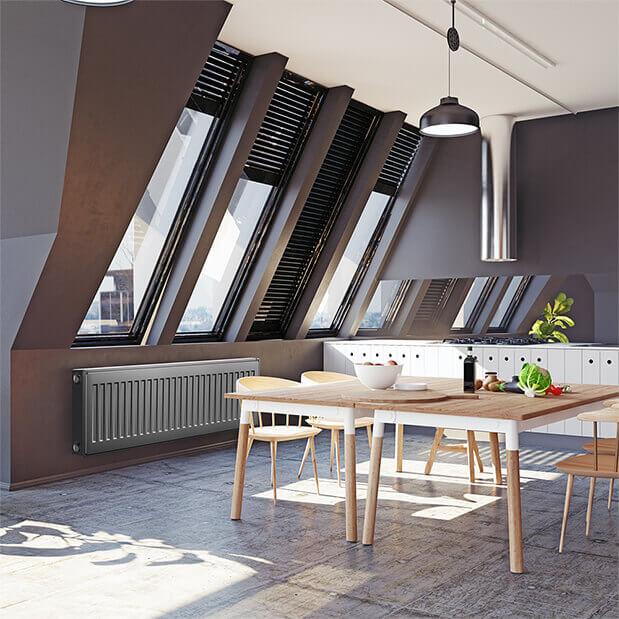 радиатор Thermo в квартире панельный Royal
