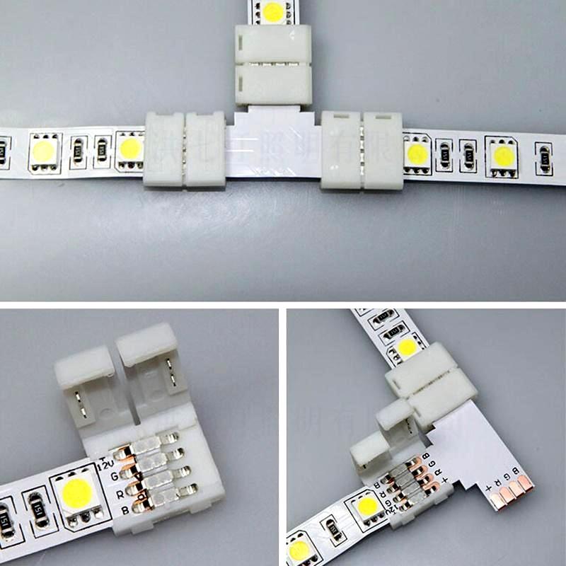 соединения разные способы светодиодного отрезка ленты
