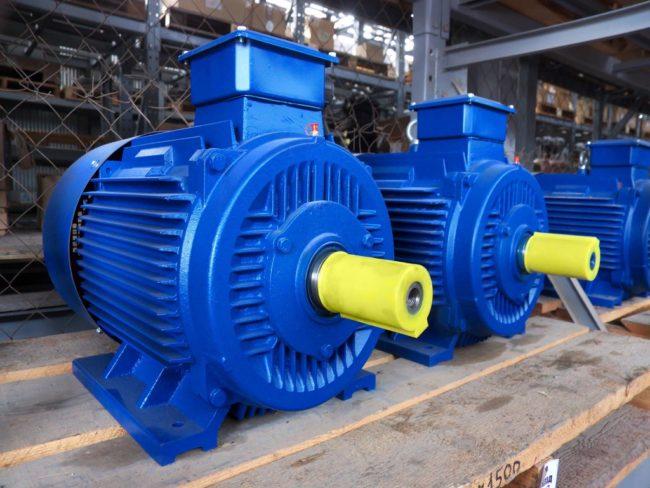торможение синие электродвигатели