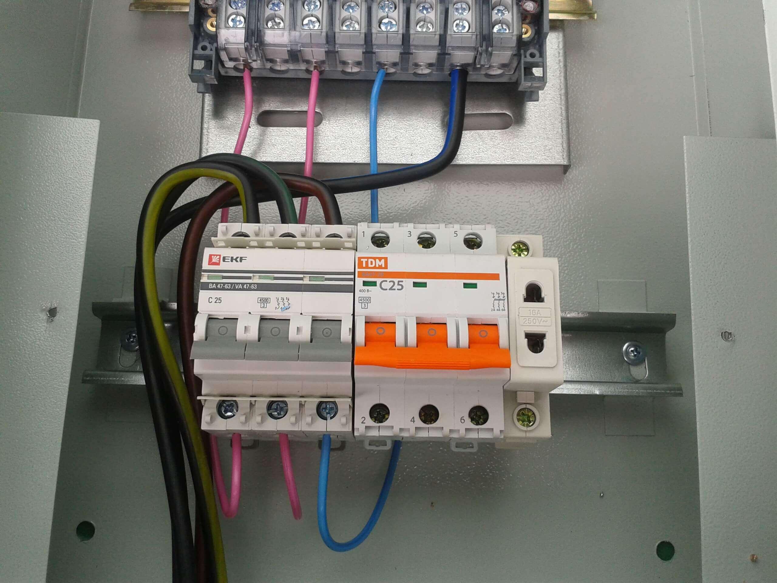 Вводной автоматический выключатель, мощность энергии