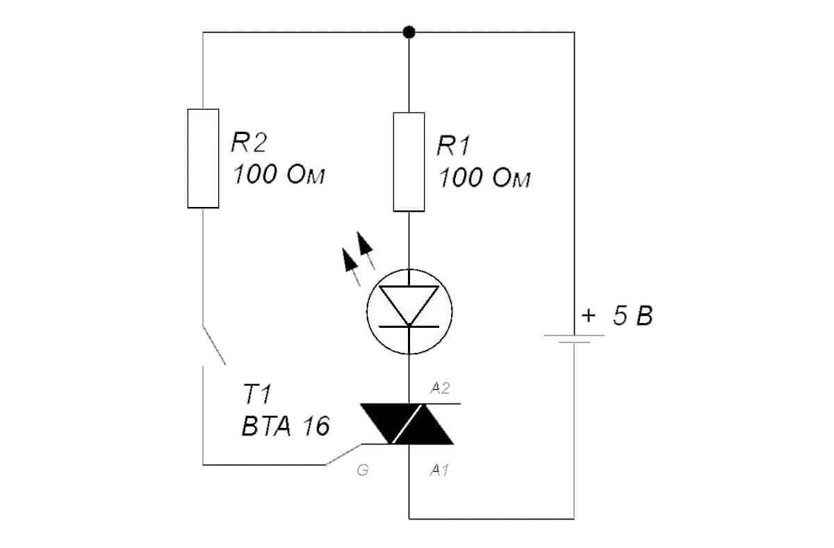 проверка тиристоров схема со светдиодом