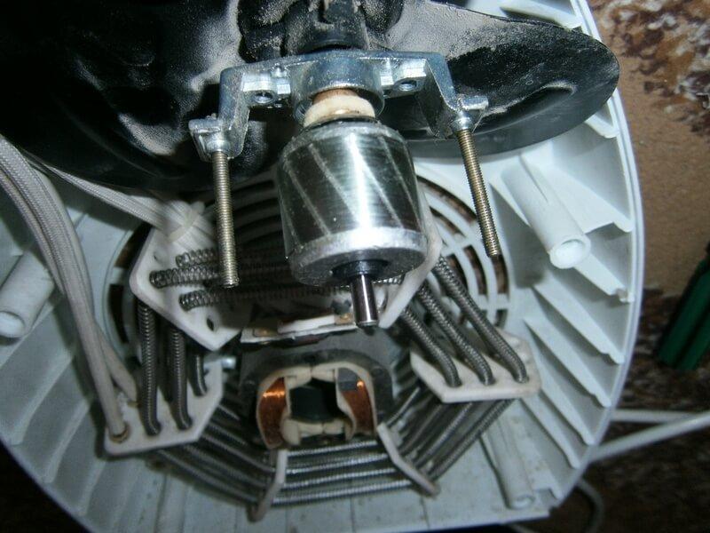 Фото мотора тепловентилятора, причина неисправности