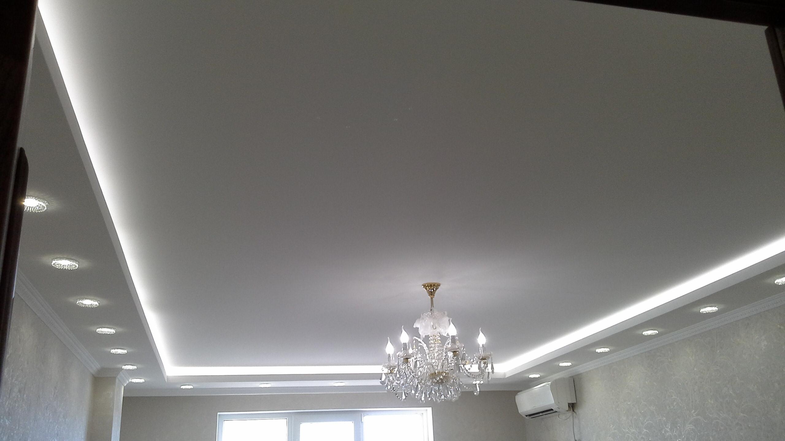 освещение потолка, варианты