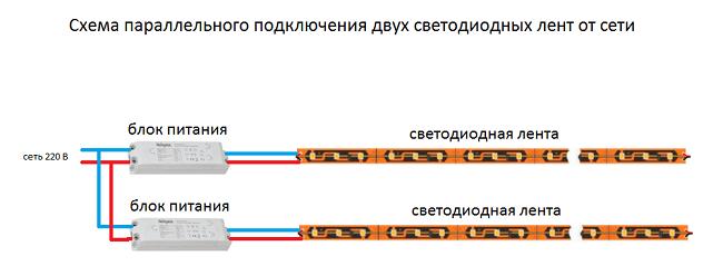 Схема, Два блока питания