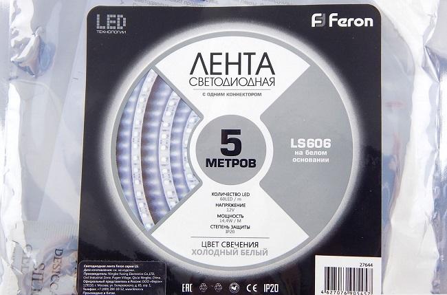 светодиодная Feron, параметры