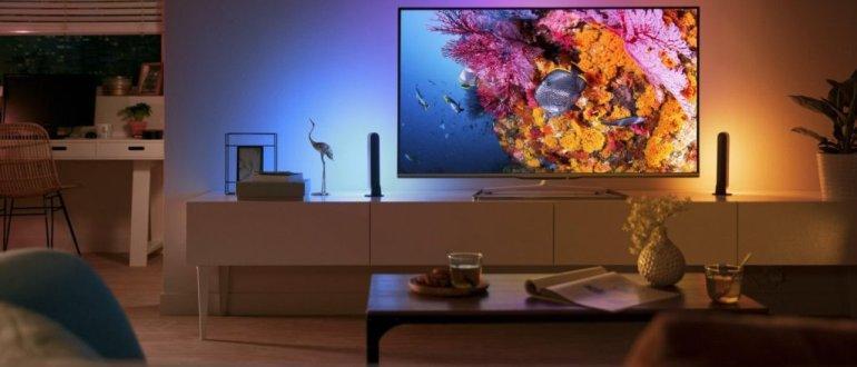 выбор телевизор в комнате 50-55 дюймов