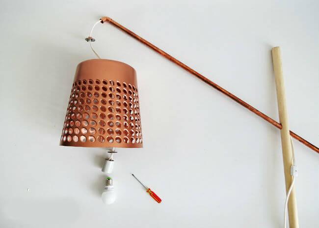 Сборка самодельного светильника самостоятельно