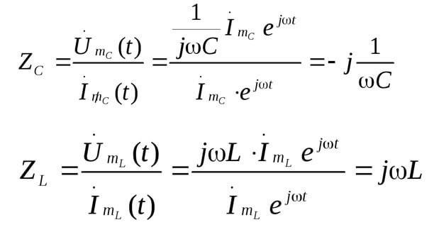 2 формулы Zc, Zl