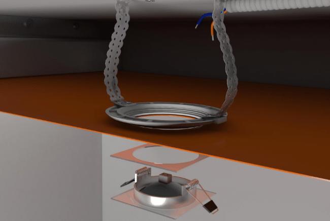 установка точечного светильника, демонтаж
