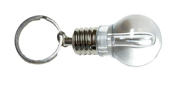 подарок брелок оригинальный в виде лампочки электрику