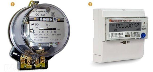счетчик потребления электрической энергии, выбор
