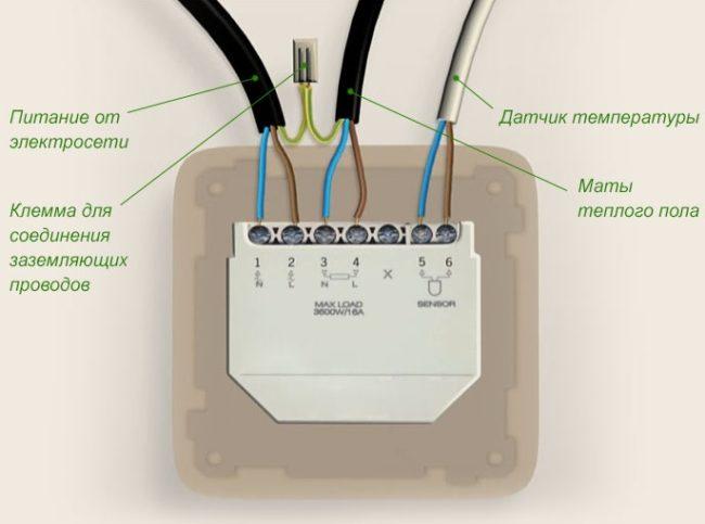 Установка термодатчик для электрического пола тёплого