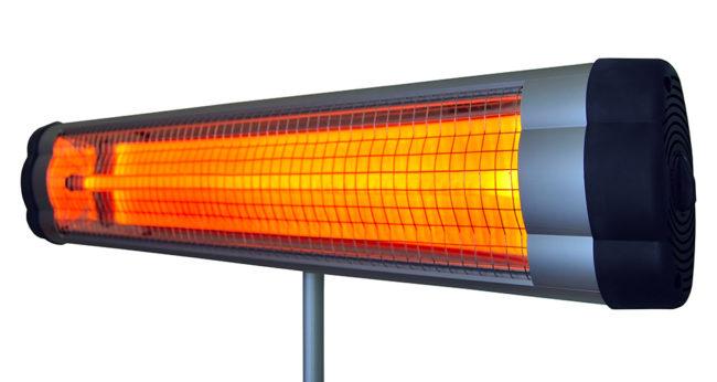 инфракрасный электрический обогреватель установка