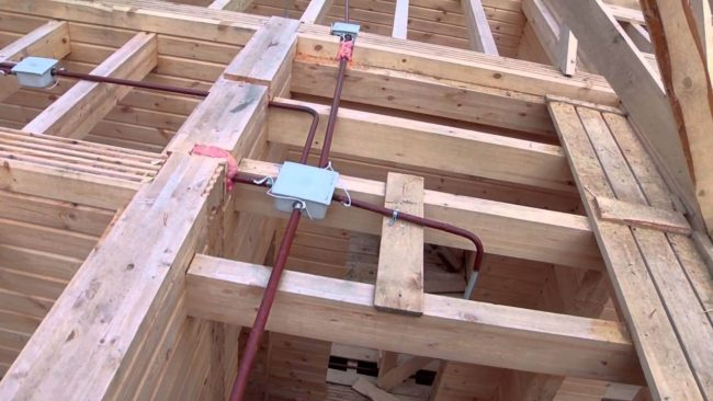 Как сделать скрытую проводку в деревянном доме, подключение