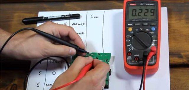 проверка конденсатора измерение работы