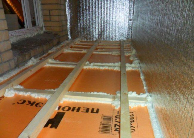теплый электрический пол в квартире а балконе