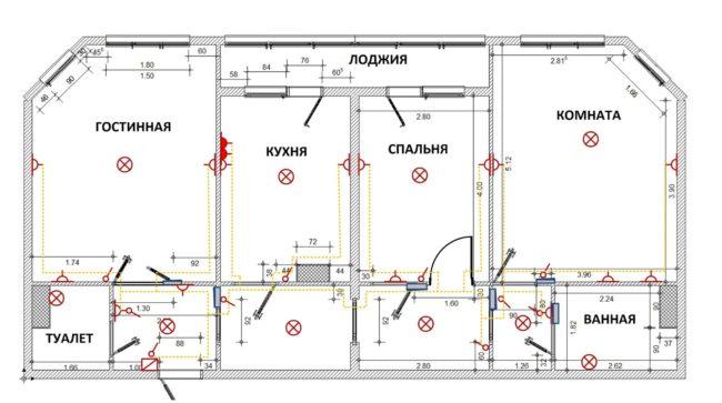 Проект и схема электропроводки
