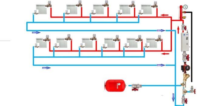 Схема подключения котла на 220 и 380 Вольт электродного