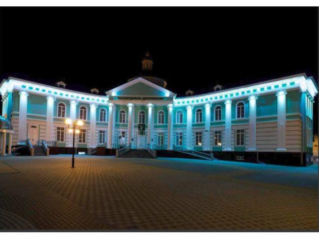 Архитектурная подсветка фасада дома